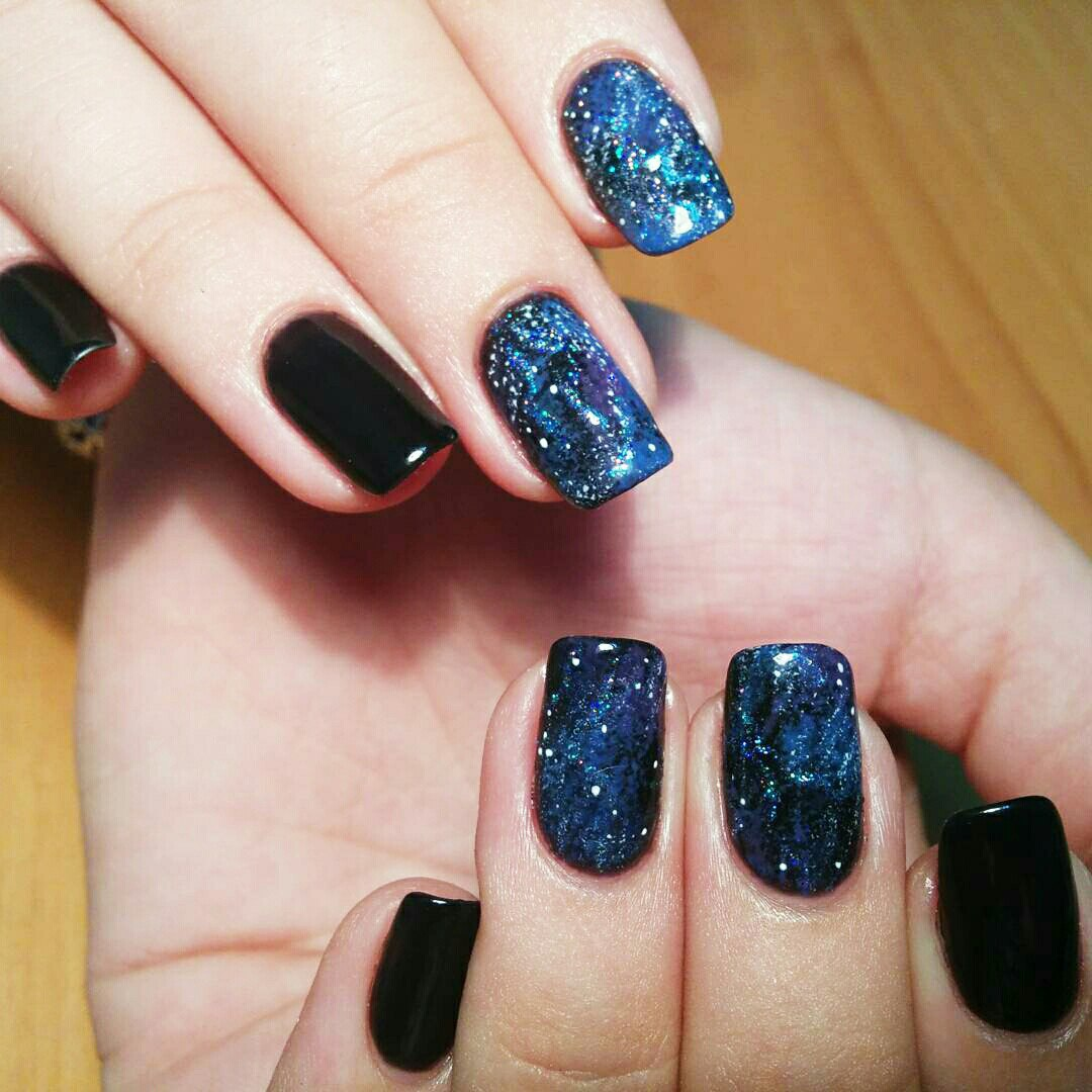 How To Do Easy Galaxy Nails Try It Now 3