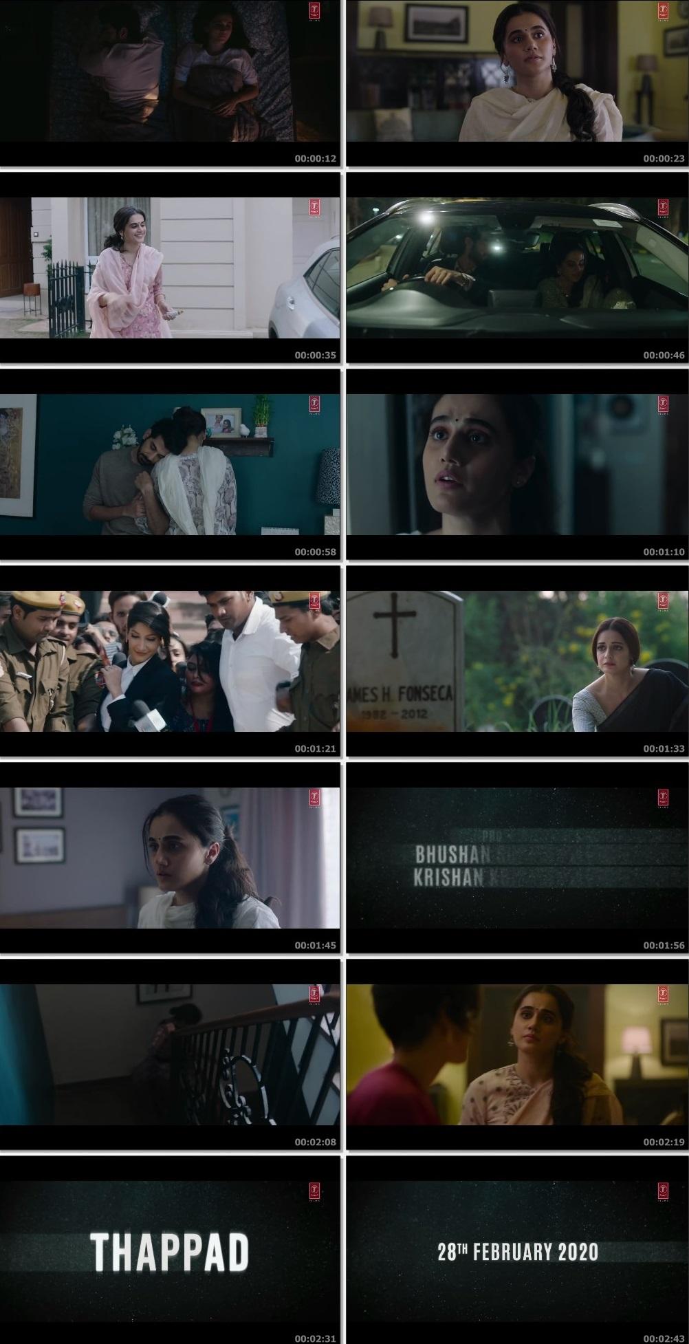 Screenshots Of Hindi Movie Thappad 2020 Trailer official 480P HD