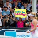 Sabine Lisicki in action at the 2016 Australian Open