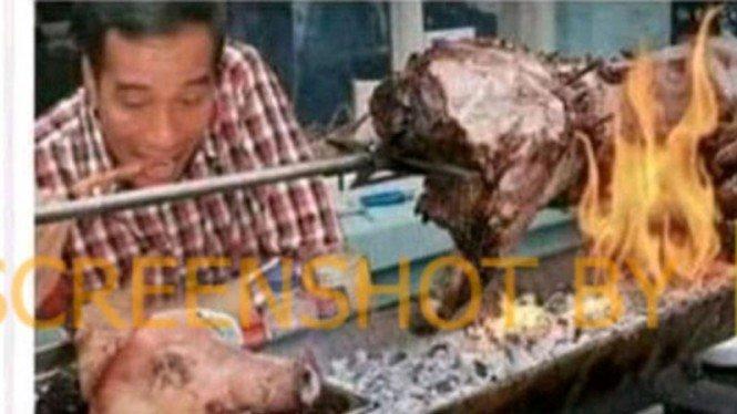 Jokowi Makan Sate Babi Panggang, Cek Faktanya
