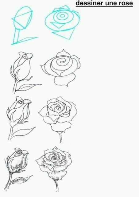 كيفية رسم الورد منارة سورية
