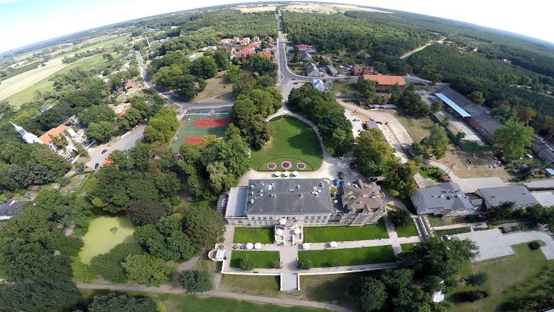 wynajem drona zdjęcia z lotu ptaka z drona park z lotu ptaka