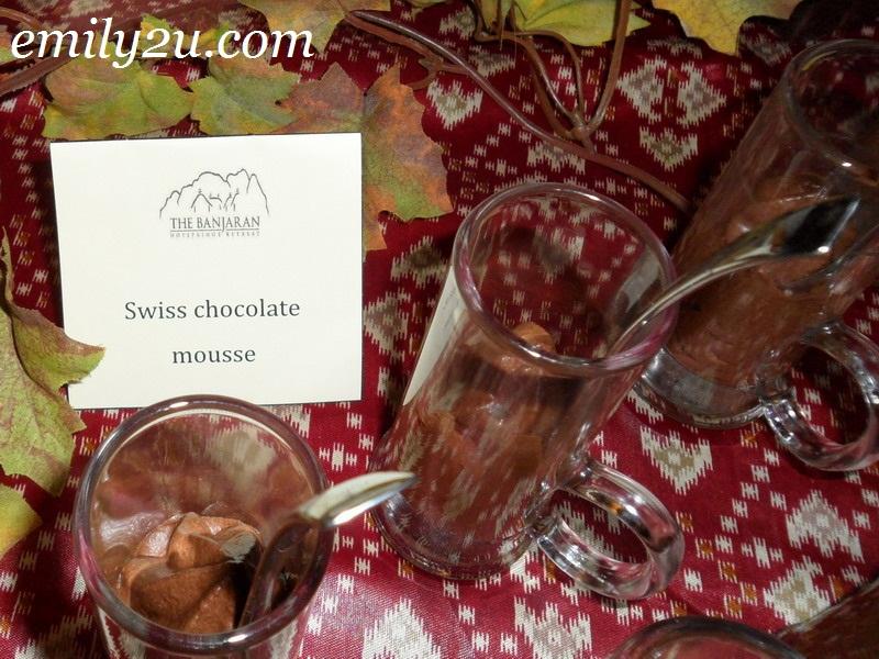 Banjaran Swiss chocolate mousse