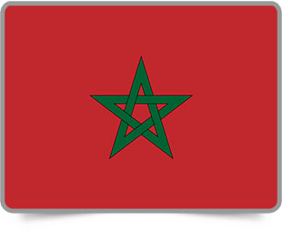 Moroccan framed flag icons with box shadow