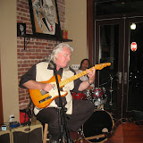 Panama-city based guitarist and vocalist Jimmy Ward was the featured artist for the monthly Blue Monday at the Five Sisters Blues Cafe. Joining him were Fred Domulot on drums and Tom Latenser on bass. The packed house enjoyed great southern home-cooking and live blues, along with a fun group of music lovers.