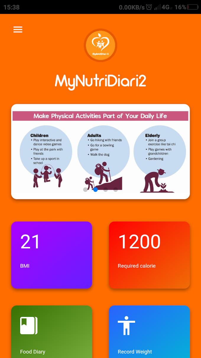 Baru Nak Cuba Kurus Sihat Dengan Apps MyNutriDiari2