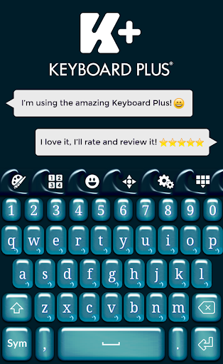 Teal Waves Keyboard