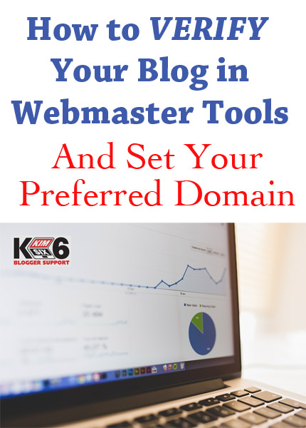 Don't compete with your own site in the search rankings! Here is how you can verify your blog in Webmaster Tools and set up a preferred domain for double the google juice!