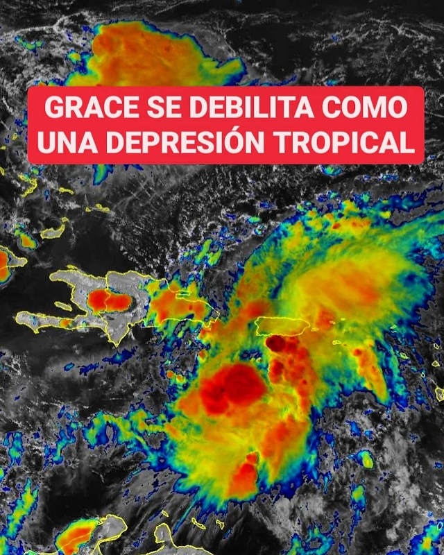Grace es degradada a depresión tropical pero se esperan fuertes lluvias en RD