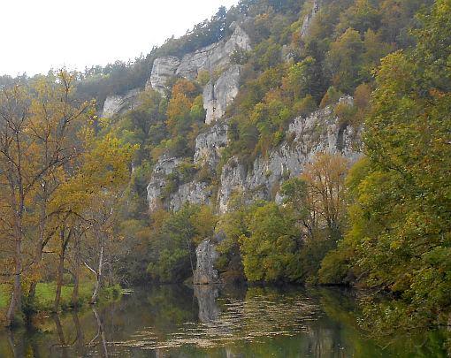 Jurafelsen im Oberen Donautal zwischen Sigmaringen und Beuron