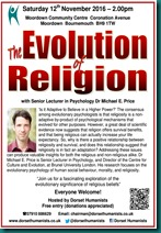 Evolution of Religion 12 November 2016