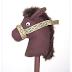 Caballito de tela con palo de madera para niños .Caballo de tela.