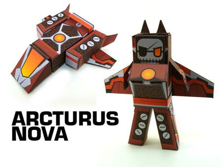 Arcturus Nova Paper Toy