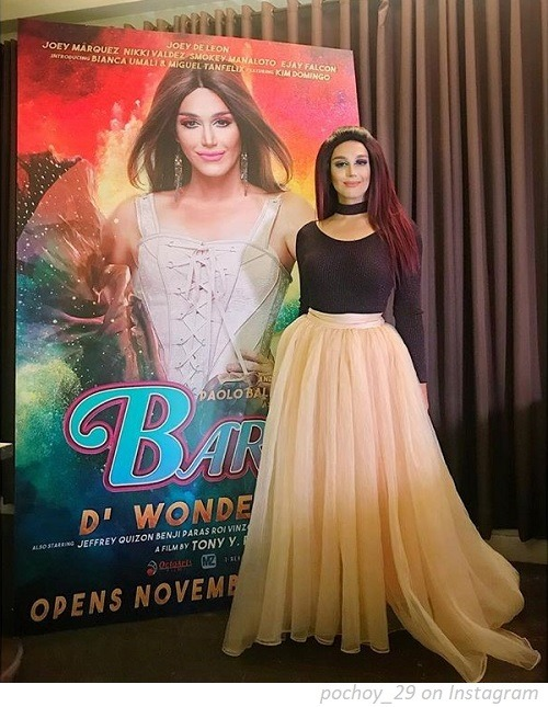 Paolo Ballesteros with the poster of Barbi D' Wonder Beki