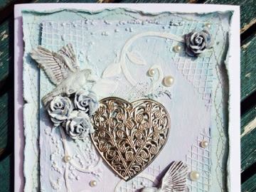 Mixed Media Engagement Card