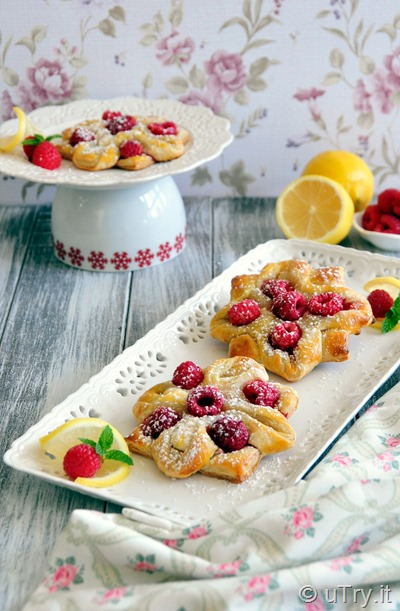 How to Make Lemon Raspberry Pastry Flower with Step-by-Step video tutorial.  Perfect for Holiday breakfast, or anytime treat!  http://uTry.it