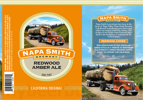 Napa Smith Adding Redwood Amber Ale 16oz Cans