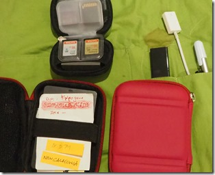 My Travelling Backups Set of External Drives & Card Case