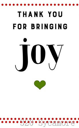 joy printable red green