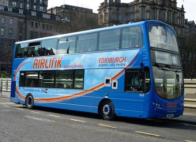 Como llegar a Edimburgo en el Airlink 100
