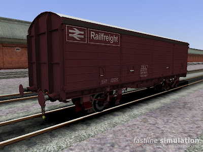 Fastline Simulation: VDA van for RailWorks with white painted roof for Rowntrees chocolate traffic.