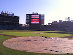 The view from the finish line, behind home plate on Turner field!! So cool.