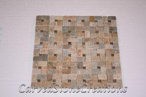 Flooring, Flooring & Mosaics, Interior, Mosaic, Natural, Pinwheel, Serengeti Gold, Stone, Tile