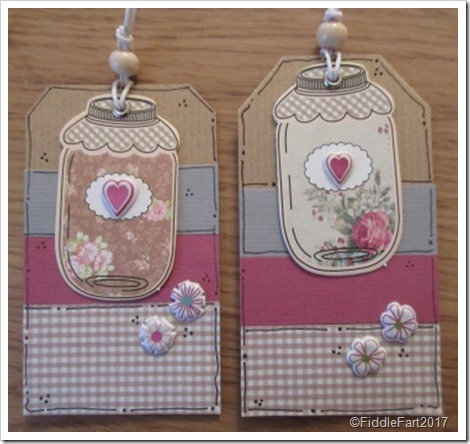 Little Gingham Jar Tags. Handmade Tags