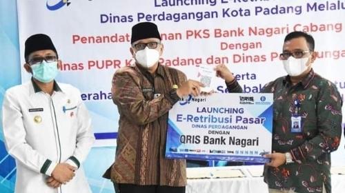 Pemko Padang Launching e-Retribusi Pasar Raya Padang