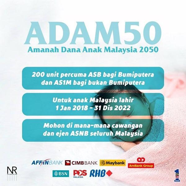 ADAM50 Amanah Dana Anak Malaysia 2050