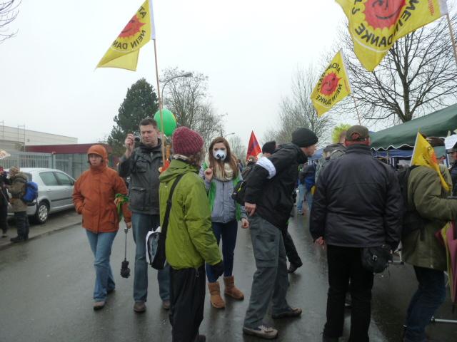 Veel jonge Duitse actievoerders waren uit het hele land aanwezig in Gronau