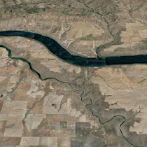 The 'Nook' at the John Day River, Oregon (GoogleEarth views)