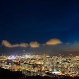 飛鵝山日落夜景