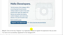 How to  Sign Up For Instagram API 3