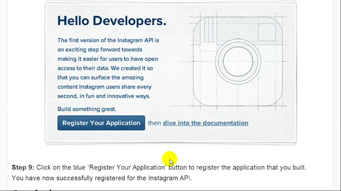 How to  Sign Up For Instagram API