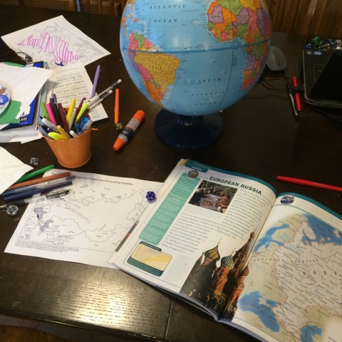 4th grade homeschool mapwork