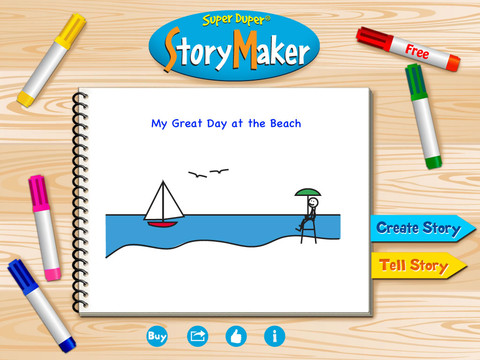 Super Duper Story Maker Main Page