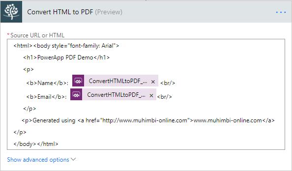 PowerApp-PDF-FlowHTML