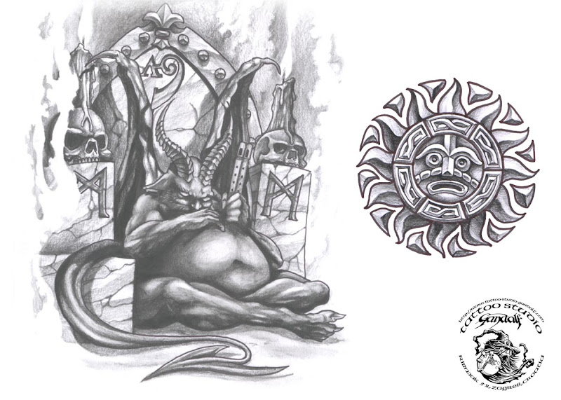 Magick Tattoo Design 2, Fantasy Tattoo Designs