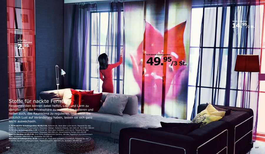 Gardinen und Schiebegardinen von IKEA - Vorhang auf für neue ...
