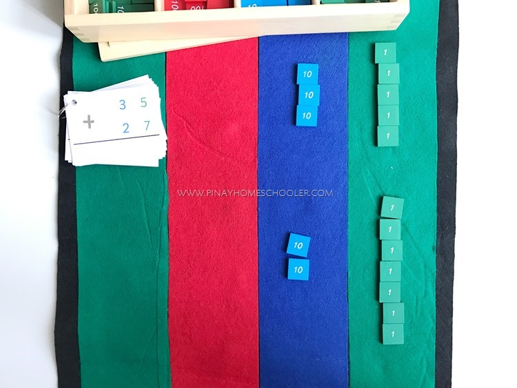 Montessori Stamp Game: Dynamic Addition