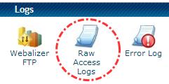 Tombol Raw Access Logs