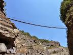 The big nepalaise bridge of Via ferrata of Sautet Lake