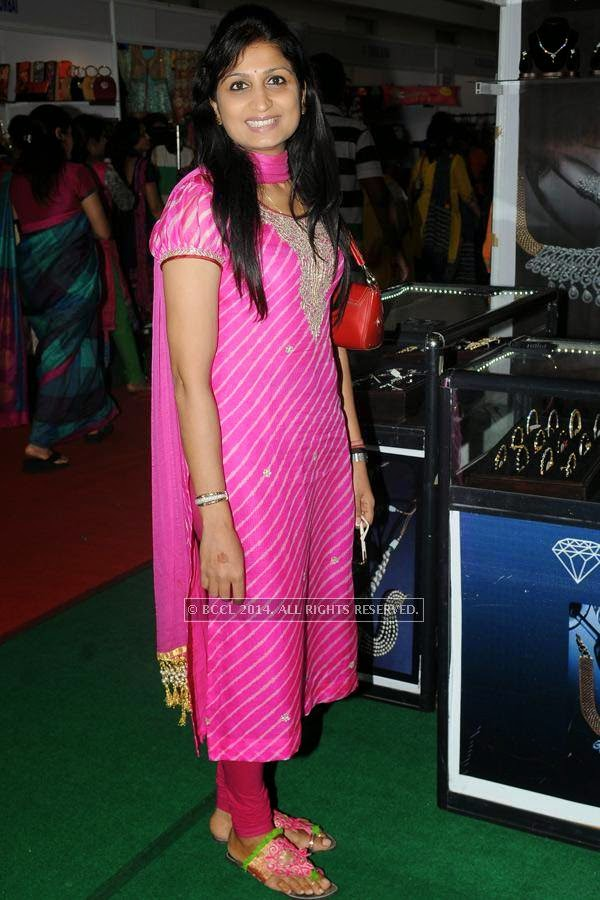 Archana during a lifestyle exhibition, held in the city.