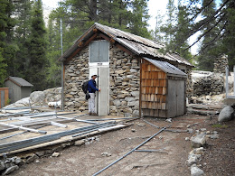 Kitchen at (soon to be opening) Glen Aulin High Sierra Camp. Gary works in Yosemite backcountry maintenance and was inspecting the area before the opening.