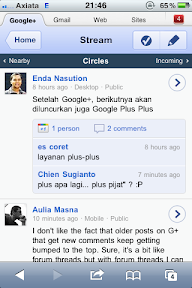Google+ di Safari iOS