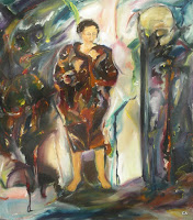 'Wrapped in the coat of experiences', oil on canvas, 28x32 inches, 1996