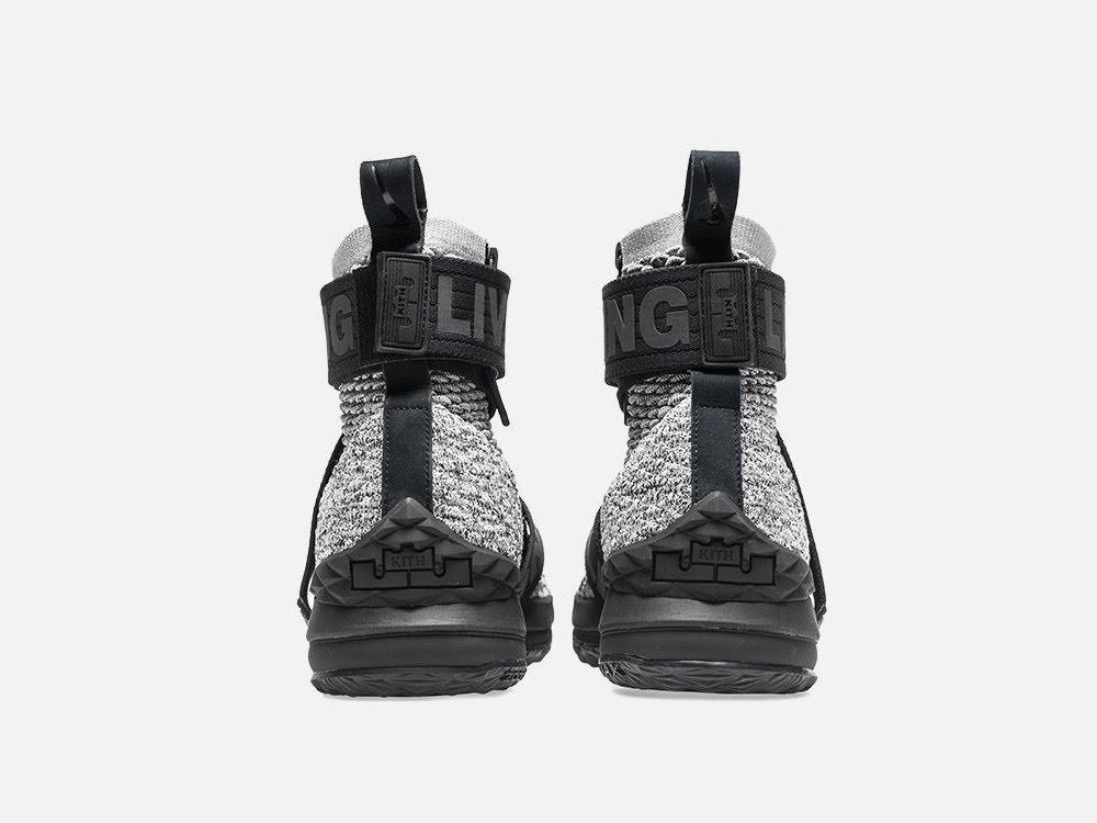 buy popular ec797 dfabd Detailed Look at KITH X Nike LeBron 15 Lifestyle 'Concrete ...
