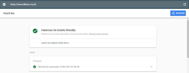 Hasil mobile friendly