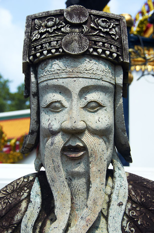 Statue at Temple of Emerald Buddha (Wat Phra Kaew) - 2. Bangkok